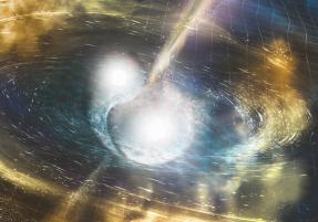 Artist's rendering of colliding neutron stars. Credit: NSF/LIGO/Sonoma State University/A. Simonnet